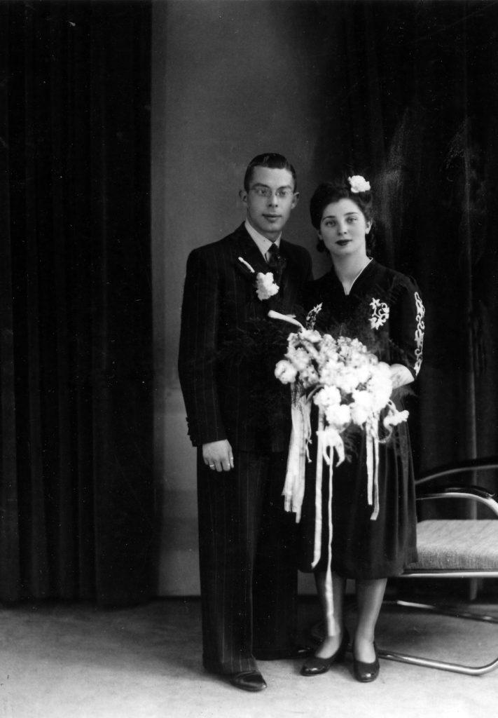 Trouwfoto Rebecca en Maurice 28 mei 1942
