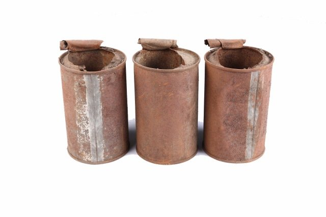 3 conserven olielampjes